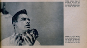 Johnny Mathis with Miranda camera and Big-Ass Lens 1958