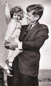President John F. Kennedy and daughter Caroline, 2 in Hyannisport,