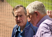 President George Bush and Owner Drayton McLain